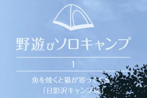 【野遊びソロキャンプ】#1 魚を焼くと猫が寄ってくる。「日影沢キャンプ場」
